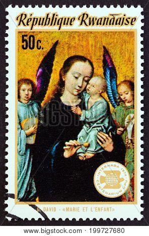 RWANDA - CIRCA 1974: A stamp printed in Rwanda from the