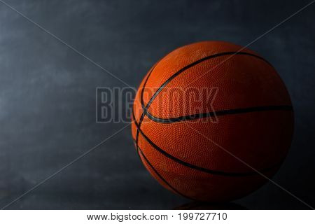 Basketball on a Beautiful dark background. Sport
