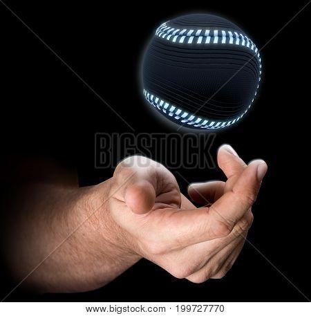 Hand Tossing Baseball