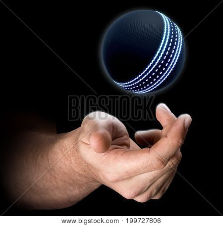 Hand Tossing Cricket Ball