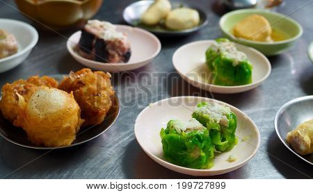 Chinese food on the table Dim Sum