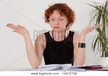 Stressed Young Businesswoman.