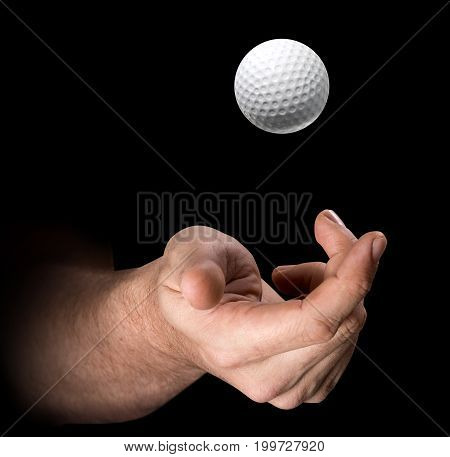 Hand Tossing Golf Ball