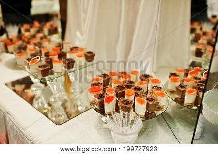 Good-looking Wedding Banquet Table With Various Dishes.