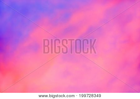 Beautiful Scene of Sunset Sky with Cloud Background