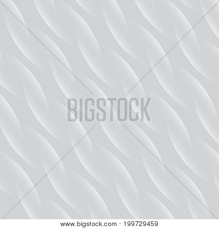 Abstract spiral pattern white and gray vector background close up fabric fiber