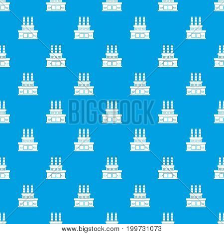 Large oil refinery pattern repeat seamless in blue color for any design. Vector geometric illustration