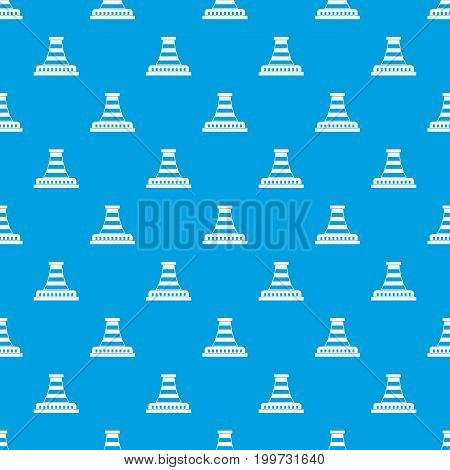 Refinery with pipe pattern repeat seamless in blue color for any design. Vector geometric illustration