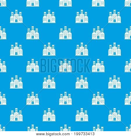 Refinery pattern repeat seamless in blue color for any design. Vector geometric illustration