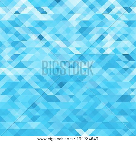 Vector abstract geometric background. Blue mosaic template background
