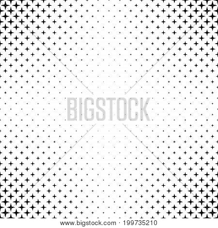 Monochrome star pattern - abstract vector background design from geometric shapes