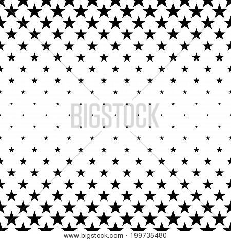 Monochromatic pentagram star pattern - abstract vector background illustration from geometric shapes
