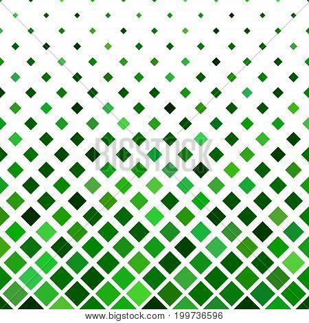 Square pattern background - geometric vector design from diagonal squares in green tones