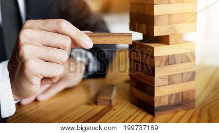 Planning, Risk And Wealth Strategy In Business Concept, Businessman And Insurance Gambling Placing W