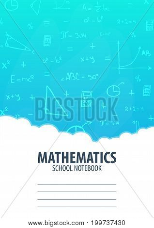 Mathematics School Notebook Template. Back To School Background. Education Banner.