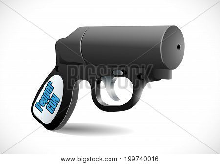 Self defense weapons - pepper spray - vector image