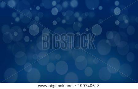 Blue Background: A blue tone bokeh background.