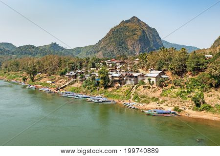 Nong Khiao Laos travel destination on river Nam Ou