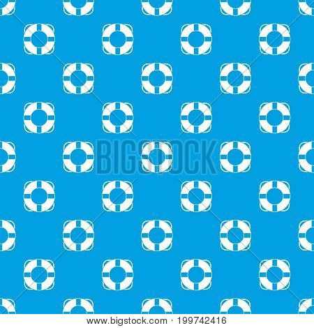Lifeline pattern repeat seamless in blue color for any design. Vector geometric illustration