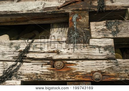 Close Up Of A Old Wharf