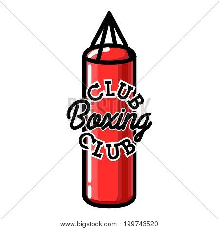 Color vintage boxing club emblem. Boxing related design elements for prints, logos, posters. Vector vintage illustration.