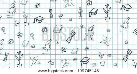 Biology Subject. Back To School Background. Education Banner.