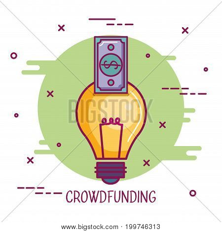crowdfunding idea banknote business cooperation vector illustration