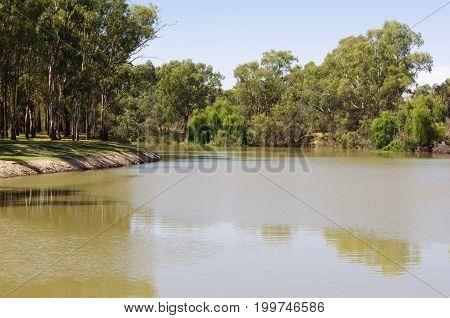 Murray River at Lock Island - Mildura, Victoria, Australia