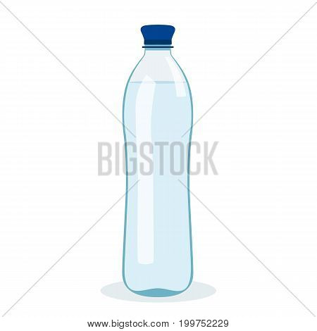 A bottle of water. Lifestyle. Flat design. Isolated object. Vector illustration