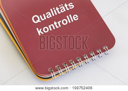 Qualitätskontrolle - German words for Quality Control