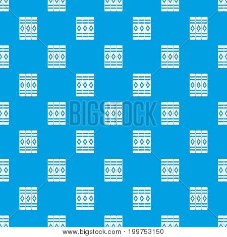 Three literary books pattern repeat seamless in blue color for any design. Vector geometric illustration