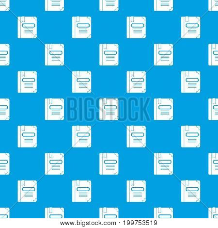 Tutorial with bookmark pattern repeat seamless in blue color for any design. Vector geometric illustration