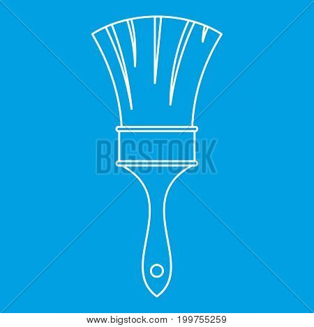 Brush icon blue outline style isolated vector illustration. Thin line sign