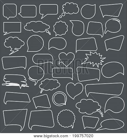 Abstract speech bubbles modern collection vector illustration