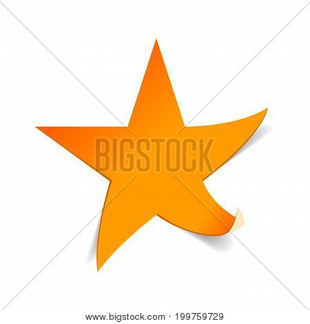 Gold star vector icon. Beautiful web symbol.