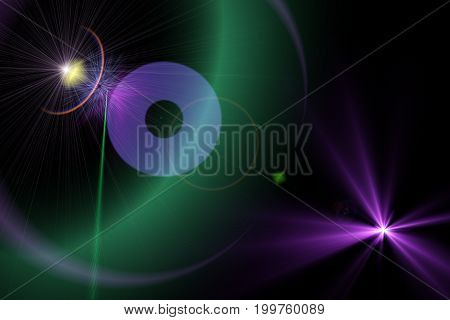 Space Starry Purple Lens Flare Background Illustration