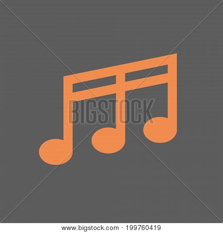 Note Musical Sign Icon Music Concept Flat Vector Illustration