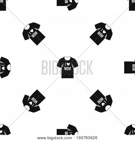 Shirt with print pattern repeat seamless in black color for any design. Vector geometric illustration