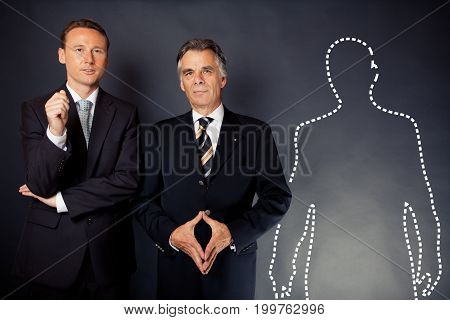 studio shot of a business team offering you a job