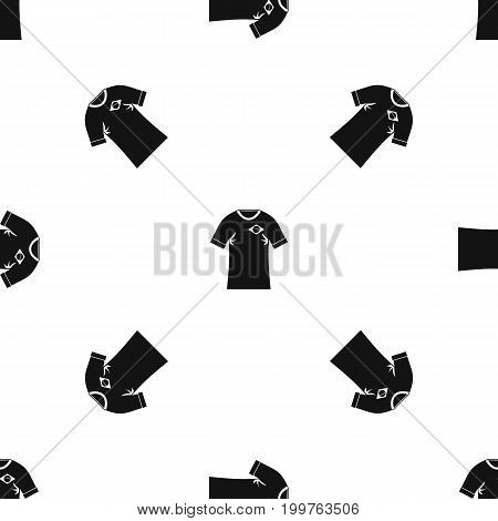 Shirt with the flag of Brazil sign pattern repeat seamless in black color for any design. Vector geometric illustration
