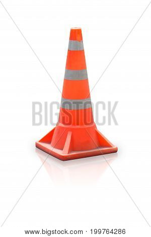 Road Block Bollard Traffic Cone Isolated On White Background