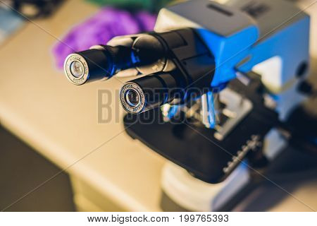 Optical Microscope In A Biological Laboratory