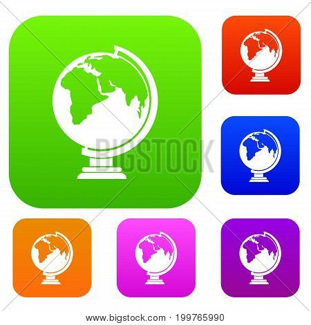 Closed book set icon in different colors isolated vector illustration. Premium collection