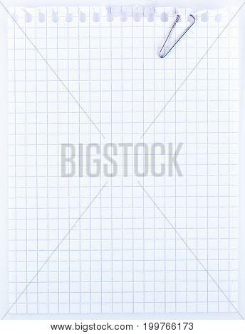 Sheet Of Notebook Paper.