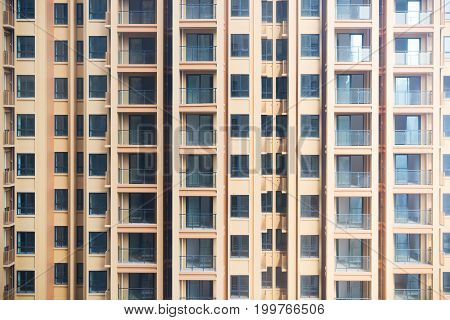 Empty high residential buidling close-up in China