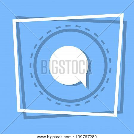 Chat Bubble Icon Social Media Message Concept Flat Vector Illustration