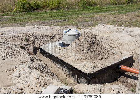 New Concrete Septic Tank