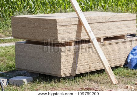 Stack Of Wooden Board