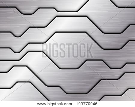 Silver metal texture, Abstract vector Illustration, EPS10