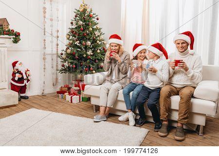 Happy Family Celebrating Christmas